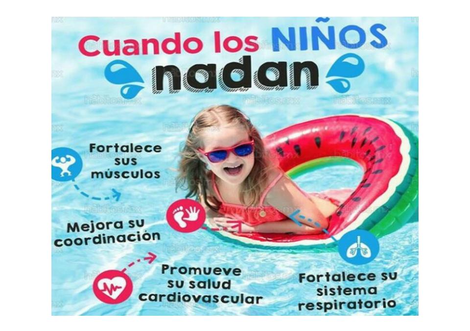 Beneficios de los niños al nadar.